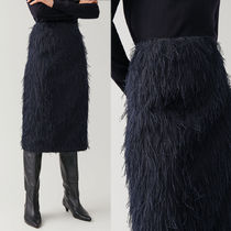 COS  FEATHERED WRAP SKIRT
