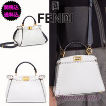 FENDI  新作SELLERIA PEEKABOO ICONIC MINI ホワイトレザー