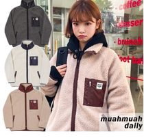 韓国発【muahmuah】Signature Fleece Half Jacket 追跡送料込