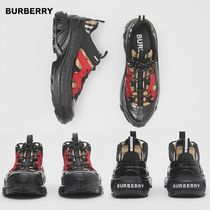 【Burberry】 Vintage Check Cotton and Nubuck Arthur Sneakers