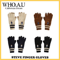 ◆WHO.A.U◆ STEVE FINGER GLOVES (全4色) 冬用手袋