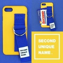SECOND UNIQUE NAME(セカンドユニークネーム) iPhone・スマホケース SECOND UNIQUE NAME★SUN CASE YELLOW BLUE★iPhoneケース