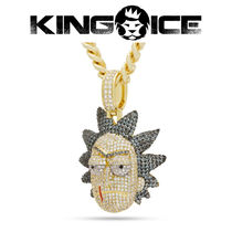【King Ice】King Ice x Rick and Morty - Evil Rick Necklace