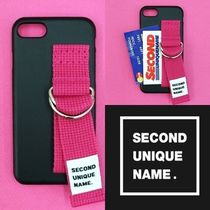 SECOND UNIQUE NAME(セカンドユニークネーム) iPhone・スマホケース SECOND UNIQUE NAME★ SUN CASE BLACK DEEP PINK★iPhoneケース
