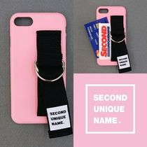 SECOND UNIQUE NAME(セカンドユニークネーム) iPhone・スマホケース SECOND UNIQUE NAME★SUN CASE LIGHT PINK BLACK ★iPhoneケース