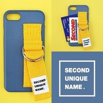 SECOND UNIQUE NAME(セカンドユニークネーム) iPhone・スマホケース SECOND UNIQUE NAME★SUN CASE RIVER BLUE YELLOW iPhoneケース