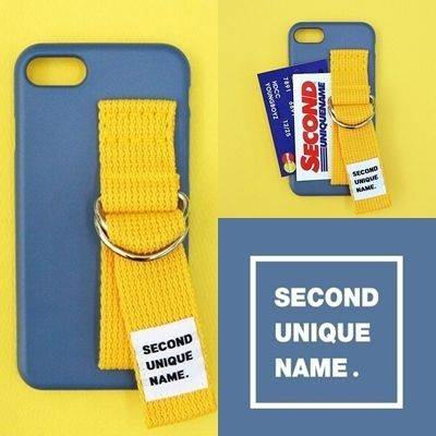SECOND UNIQUE NAME スマホケース・テックアクセサリー SECOND UNIQUE NAME★SUN CASE RIVER BLUE YELLOW iPhoneケース