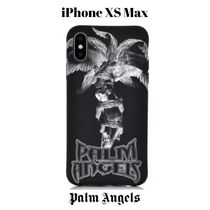 UK発!【PALM ANGELS】Statue Palm iPhone XS Max Case ロゴ入