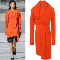 BV035 LOOK5 WOOL SWEATER DRESS WITH WEAVE DETAIL