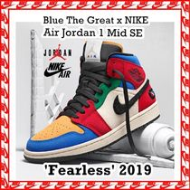 Blue The Great x NIKE Air Jordan 1 Mid 'Fearless' AW FW 19