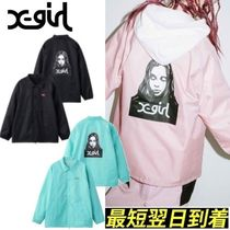X-girl (エックスガール)FACE COACH JACKET*雑誌掲載