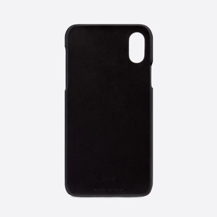Dior スマホケース・テックアクセサリー Dior☆BLACK CALFSKIN DIOR OBLIQUE IPHONE XS CASE XS用ケース(3)