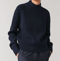 """""""COS""""  WOOL-COTTON KNITTED JUMPER NAVY"""