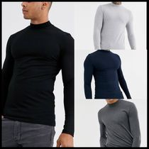 ASOS DESIGN muscle fit long sleeve jersey turtle neck