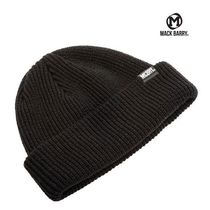 【国内発送・送料無料】MACK BARRY DAILY SHORT BEANIE - black