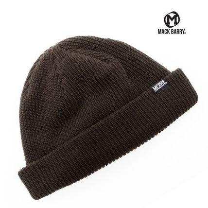 【国内発送・送料無料】MACK BARRY DAILY SHORT BEANIE - brown
