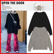 ☆人気☆【OPEN THE DOOR】☆Loose-fit grunge knit☆2色☆
