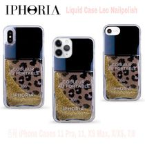 先取★Liquid Case【送込IPHORIA】iPhone 7-11★Nail瓶レオ/ラメ