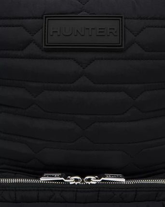 HUNTER バックパック・リュック 【HUNTER】Refined Quilted Backpack/ブラック/キルティング(5)