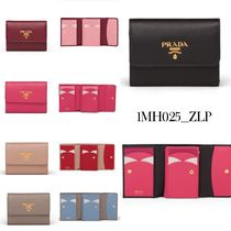 PRADA Saffiano leather wallet 1MH025_ZLP