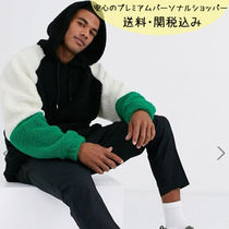国内発送ASOS oversized hoodie with colour blocking