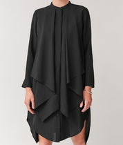"""""""COS"""" DRESS WITH DRAPED LAYER BLACK"""