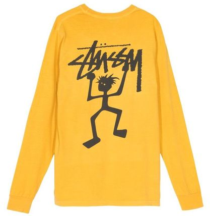 STUSSY Tシャツ・カットソー *国内完売アイテム*Stussy Warrior Man Pig. Dyed LS Tee FA19(5)
