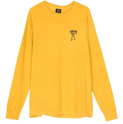 STUSSY Tシャツ・カットソー *国内完売アイテム*Stussy Warrior Man Pig. Dyed LS Tee FA19(6)