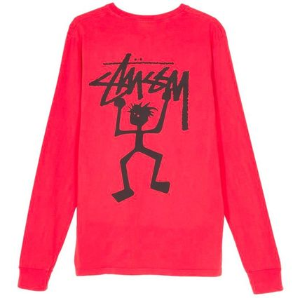 STUSSY Tシャツ・カットソー *国内完売アイテム*Stussy Warrior Man Pig. Dyed LS Tee FA19(7)