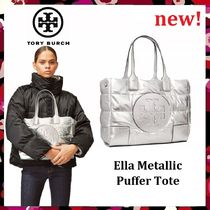 セール 新作 Tory Burch Ella Metallic Mini Puffer Tote (小)