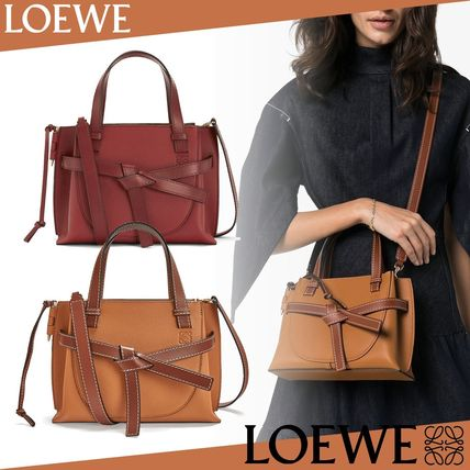 新作 LOEWE ロエベ Gate Top Handle Mini LIGHT CARAMEL