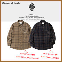 ◆Diamond Layla◆ Endless Love Fluff Mood Check Shirt 裏起毛