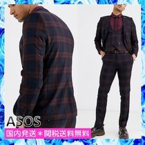 ASOS Twisted Tailor スーパースキニースーツチェック 3点セット