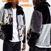 URBAN OUTFITTERS 柄ブロック ファーボンバー ジャケット 送関込