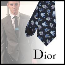 "DIOR ""DIOR AND ALEX FOXTON"" フラワープリント シルクネクタイ"