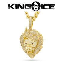 【King Ice】Classic Iced Roaring Lion Necklace