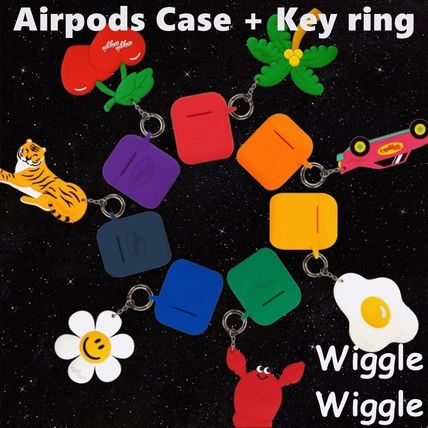 wiggle wiggle スマホケース・テックアクセサリー 【wigglewiggle】Airpdosケース+キーリングセット 7colors