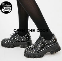 OPEN THE DOOR platform enamel stud loafer SW108 追跡付