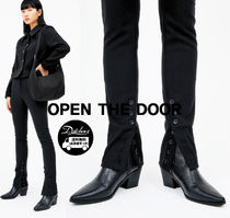 OPEN THE DOOR slim shape leather ankle boots  SW110 追跡付
