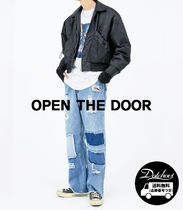 OPEN THE DOOR fabric patchwork denim pants SW114 追跡付