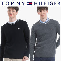 Tommy Hilfiger正規品★Wool Neckline Lettering Sweater (2色)
