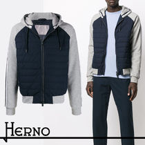 【HERNO】 FW19 Colour Block Padded Hooded Jacket