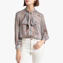 La Redoute★Checked Pussy Bow Blouse