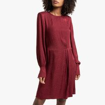 La Redoute★Short Satin Dress with Long Sleeves