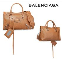 BALENCIAGA☆Classic City small textured-leather tote