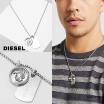 UK発★DIESEL 'DOUBLEペンダント/ネックレス'
