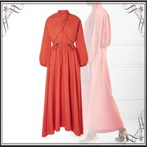 関税込み◆Draped twill maxi dress