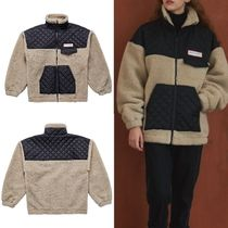 韓国発 MSKN2ND LENTICULAR PATCH FLEECE ZIP UP JACKET BEIGE