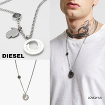 UK発★DIESEL19AW新作 'ダブルペンダント/ネックレス'