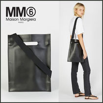 【MM6 Maison Margiela】SS18 Leather Structured Shopper Tote